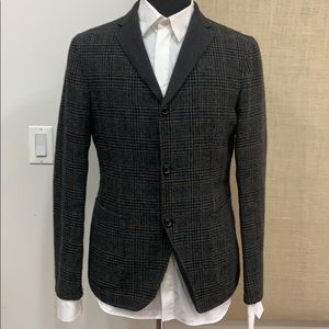 Kolor japan contrast collar unstructured jacket